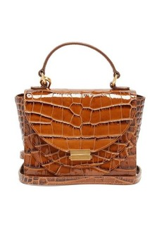 Wandler Luna mini crocodile-effect leather cross-body bag
