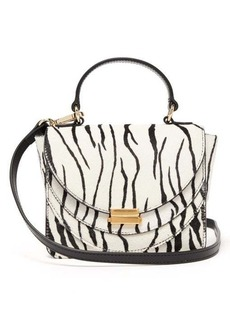 Wandler Luna mini zebra-print calf-hair cross-body bag