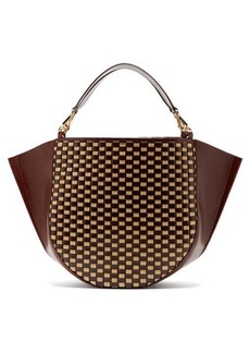 Wandler Mia large woven leather tote bag