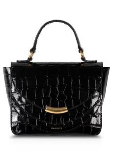 WANDLER Mini Luna Arch Croc Embossed Leather Shoulder Bag