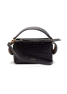 Wandler Yara mini crocodile-effect leather cross-body bag