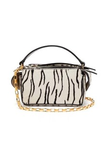 Wandler Yara mini zebra-print calf hair cross-body bag