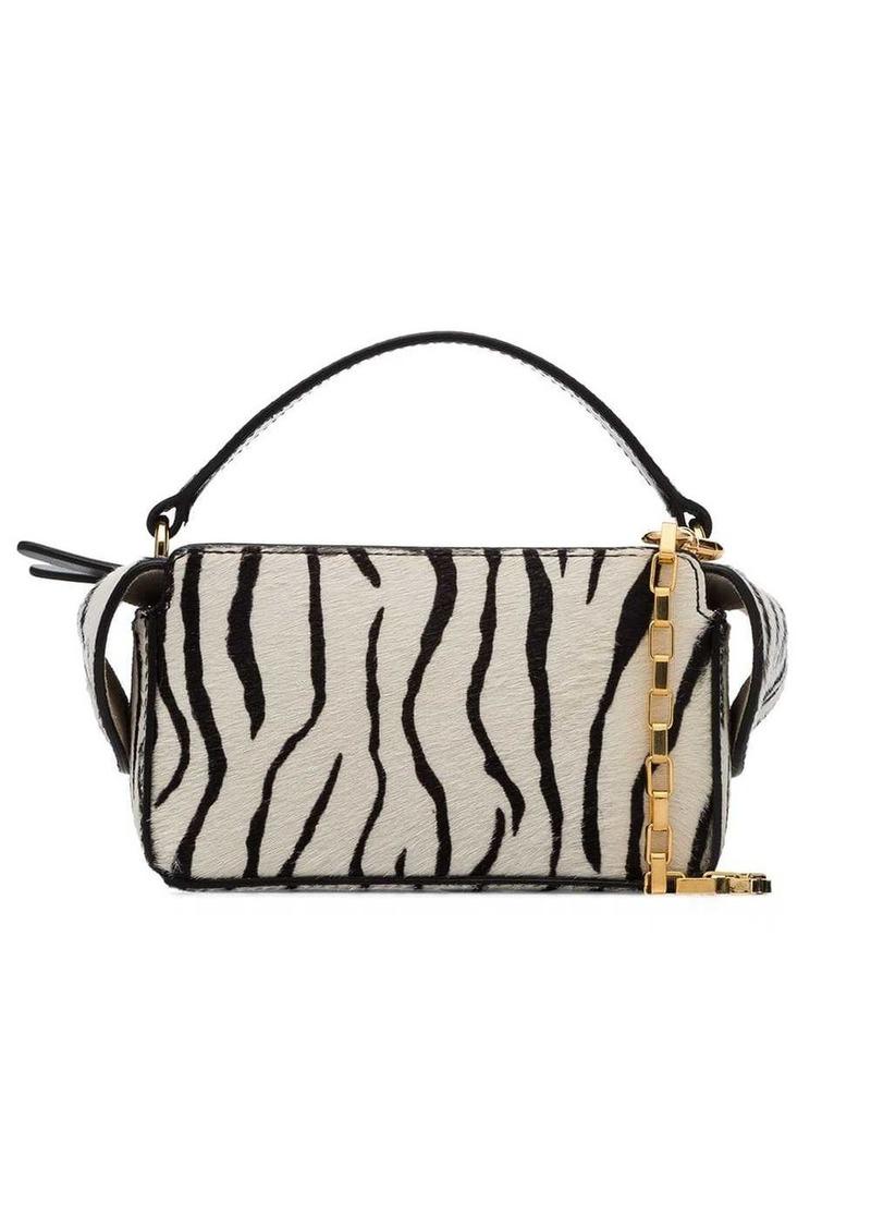 Wandler zebra print mini Yara box bag