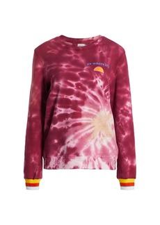 Warm Tie-Dye Laid Back Sweatshirt