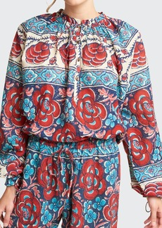 Warm Hope Printed Cotton Blouse