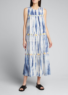 Warm Mezcal Tie-Dye Maxi Dress