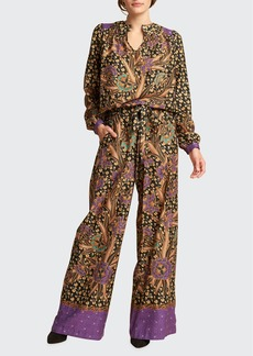 Warm Polly Floral Long-Sleeve Top