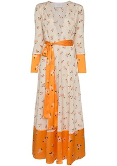 We Are Leone Ditsy floral print maxi cardigan