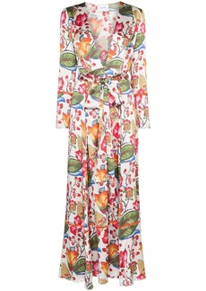 We Are Leone floral print robe dress