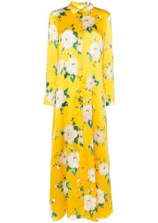 We Are Leone floral shirt-style maxi dress