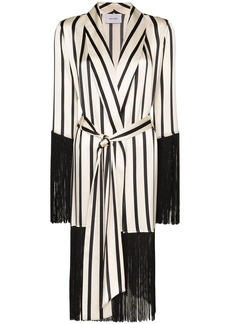 We Are Leone fringed stripe robe