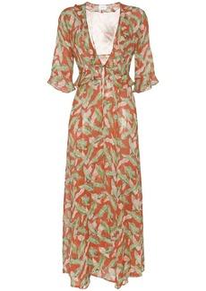 We Are Leone leaf print maxi robe