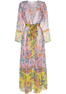 We Are Leone Sheer floral robe