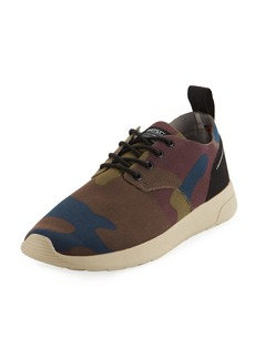WESC Men's Camouflage Fabric Sneakers