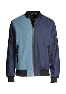 WESC Colorblock Denim Bomber Jacket