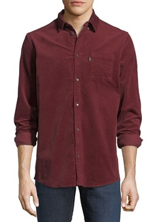 WESC Corduroy Button-Front Shirt  Red
