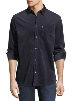 WESC Corduroy Button-Front Shirt  Navy