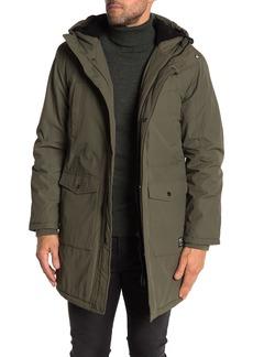 WESC Faux Shearling Hood Parka Jacket