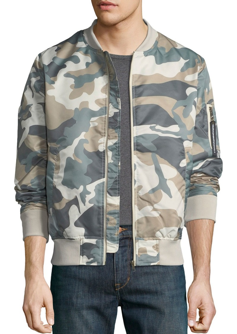 e6133ee30cff0 WESC Men's Camouflage Lightweight Bomber Jacket Now $50.80