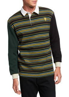 WESC Men's Conor Striped Rugby Polo Shirt
