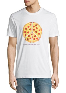 WESC Men's Max Peace Pizza Graphic T-Shirt
