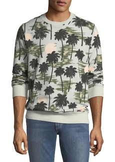 WESC Men's Miles Hawaii-Print Sweatshirt