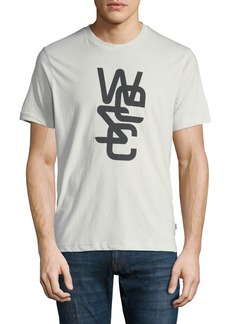 WESC Men's Overlay Logo-Graphic T-Shirt