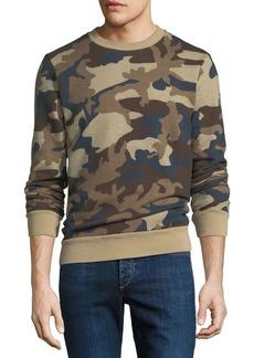 WESC Miles Camouflage Fleece Sweatshirt