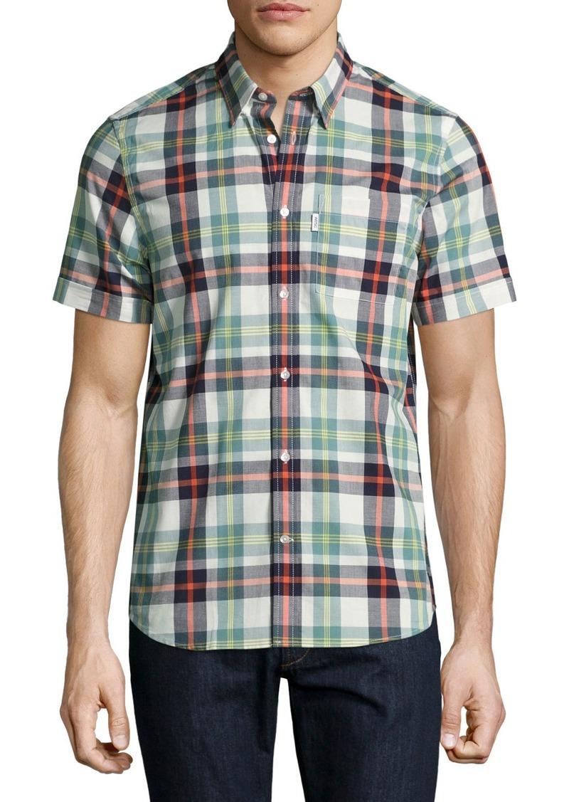 77e82abf7e1 WESC Nisse Plaid Short-Sleeve Sport Shirt