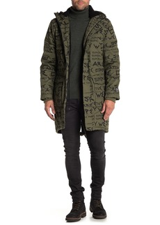 WESC Print Fleece Lined Fishtail Parka