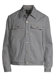 WESC Railroad Stripe Trucker Jacket