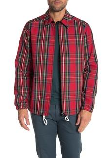 WESC Tartan Print Zip Coach Jacket