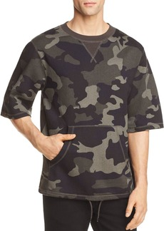 WeSC Madison Camouflage Short Sleeve Sweatshirt