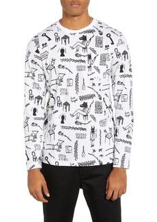 WeSC Makai Monsters Graphic Long Sleeve Pocket T-Shirt