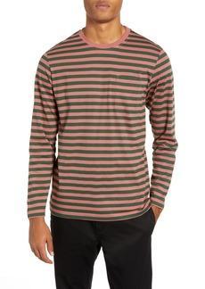 WeSC Makai Stripe Long Sleeve Pocket T-Shirt