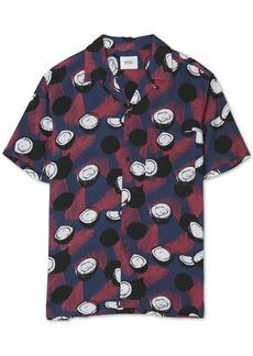 WeSC Men's Nevin Abstract Fern Print Short Sleeve Shirt