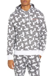 WeSC Mike Puzzle Check Pullover Hoodie