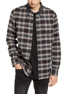 WeSC Olavi Plaid Button-Down Flannel Shirt