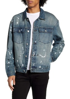 WeSC Paint Splatter Denim Jacket