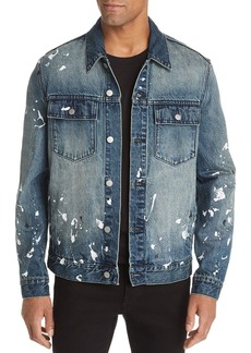 WeSC Paint Splatter Regular Fit Denim Jacket
