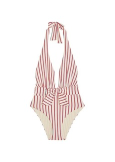 WeWoreWhat Brooklyn Stripe One-Piece Swimsuit