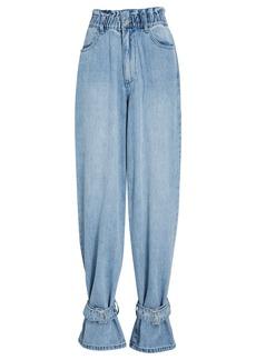 WeWoreWhat Paperbag Buckle Jeans