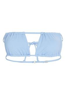 WeWoreWhat Ruched Bandeau Bikini Top