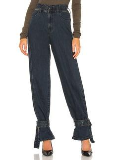 WeWoreWhat Paperbag Buckle Jean