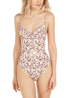 WeWoreWhat Tortoiseshell Printed Danielle One-Piece Swimsuit, Created for Macy's Women's Swimsuit