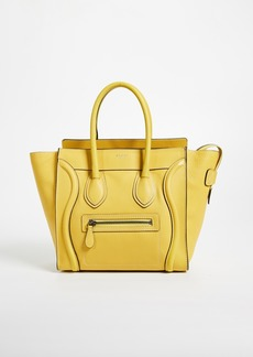 What Goes Around Comes Around Celine Micro Drummed Luggage Bag