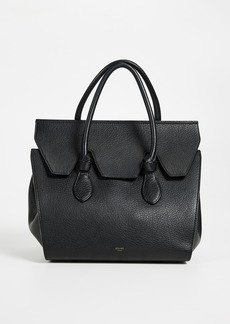 What Goes Around Comes Around Celine Small Leather Tie Tote