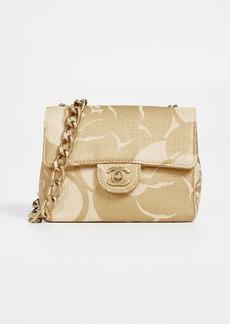 What Goes Around Comes Around Chanel Beige Raffia Half Flap Mini