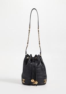 What Goes Around Comes Around Chanel Black Caviar 3CC Bucket Bag