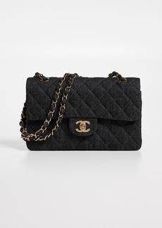 "What Goes Around Comes Around Chanel Black Denim 2.55 9 Bag"""